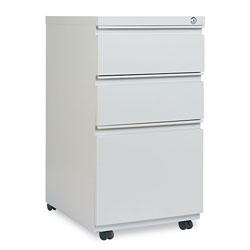 Alera Three-Drawer Pedestal File with Full-Length Pull, 14.96w x 19.29d x 27.75h, Light Gray