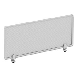 Alera Polycarbonate Privacy Panel, 47w x 0.50d x 18h, Silver/Clear