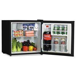 Alera 1.6 Cu. Ft. Refrigerator with Chiller Compartment, Black