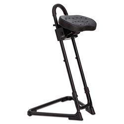 Alera SS Series Sit/Stand Adjustable Stool, Black/Black, Black Base