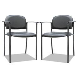 Alera Sorrento Series Stacking Guest Chair, Black Seat/Black Back, Black Base, 2/Carton
