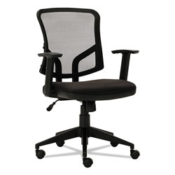 Alera Everyday Task Office Chair, Supports up to 275 lbs., Black Seat/Black Back, Black Base
