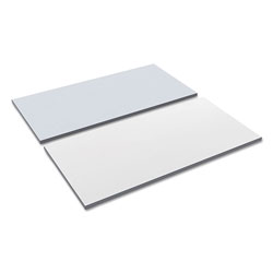 Alera Reversible Laminate Table Top, Rectangular, 59 3/8w x 23 5/8d, White/Gray