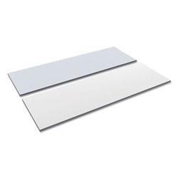 Alera Reversible Laminate Table Top, Rectangular, 71 1/2w x 23 5/8d, White/Gray