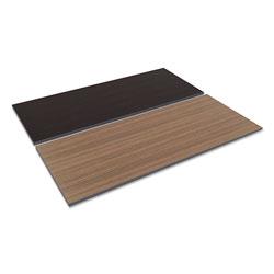 Alera Reversible Laminate Table Top, Rectangular, 71 1/2w x 29 1/2d, Espresso/Walnut