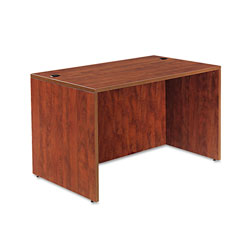 Alera Valencia Series Straight Desk Shell, 47.25w x 29.5d x 29.63h, Medium Cherry