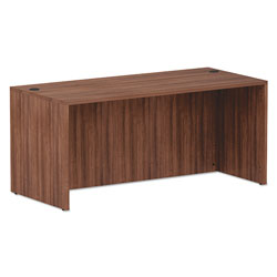 Alera Valencia Series Straight Front Desk Shell, 65w x 29.5d x 29.63h, Modern Walnut