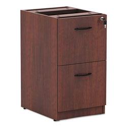 Alera Valencia File/File Drawer Full Pedestal, 15.63w x 20.5d x 28.5h, Medium Cherry