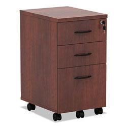 Alera Valencia Mobile Box/Box/File Pedestal File, 15.88w x 20.5d x 28.38h, Medium Cherry
