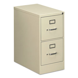 OIF Two-Drawer Economy Vertical File Cabinet, Letter, 15w x 25d x 29h, Putty