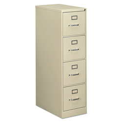 OIF Four-Drawer Economy Vertical File Cabinet, Letter, 15w x 25d x 52h, Putty