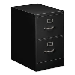 OIF Two-Drawer Economy Vertical File Cabinet, Legal, 18.25w x 25d x 29h, Black