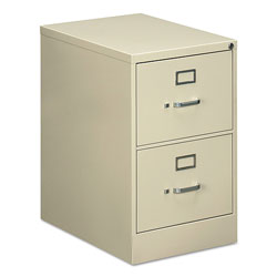 OIF Two-Drawer Economy Vertical File Cabinet, Legal, 18.25w x 25d x 29h, Putty