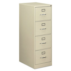 OIF Four-Drawer Economy Vertical File Cabinet, Legal, 18.25w x 25d x 52h, Putty