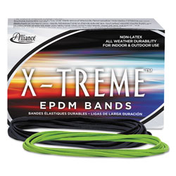Alliance Rubber X-Treme Rubber Bands, Size 117B, 0.08 in Gauge, Lime Green, 1 lb Box, 200/Box