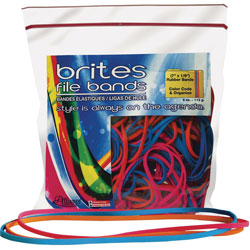 """Alliance Rubber File Rubber Bands, 7"""" x 1/8"""", 50 Count, Yellow, Blue, Lime"""