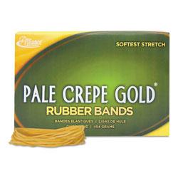 Alliance Rubber Pale Crepe Gold Rubber Bands, Size 19, 0.04 in Gauge, Crepe, 1 lb Box, 1,890/Box