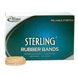 Alliance Rubber Sterling Rubber Bands, Size 16, 0.03 in Gauge, Crepe, 1 lb Box, 2,300/Box