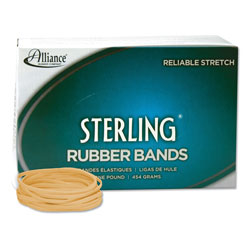 Alliance Rubber Sterling Rubber Bands, Size 33, 0.03 in Gauge, Crepe, 1 lb Box, 850/Box