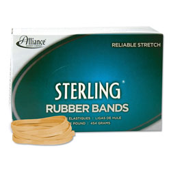 Alliance Rubber Sterling Rubber Bands, Size 64, 0.03 in Gauge, Crepe, 1 lb Box, 425/Box