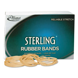 Alliance Rubber Sterling Rubber Bands, Size 105, 0.05 in Gauge, Crepe, 1 lb Box, 70/Box