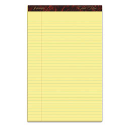 Ampad Gold Fibre Writing Pads, Wide/Legal Rule, 8.5 x 14, Canary, 50 Sheets, Dozen