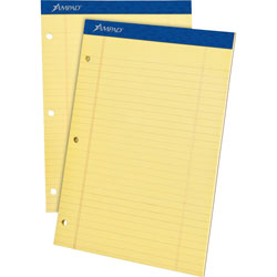 "Ampad Perforated Pad, Legal/3HP, 8 1/2"" x 11 3/4"", CY"