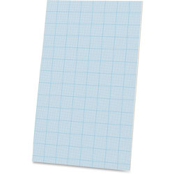 """Ampad Cross Section Pads, Ruled 10x10 Sq/Inch, 40 sheets, 8-1/2""""x14"""", White"""