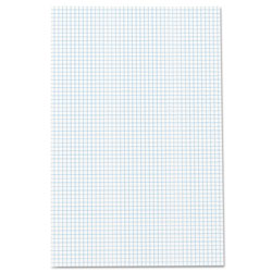 Ampad Quadrille Pads, 4 sq/in Quadrille Rule, 11 x 17, White, 50 Sheets