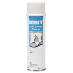 Misty Glass & Mirror Cleaner w/Ammonia, 19oz Aerosol, 12/Carton