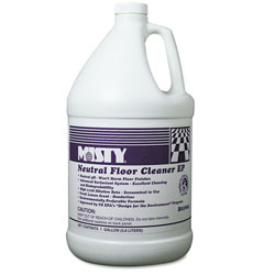 Misty Neutral Floor Cleaner EP, Lemon, 1gal Bottle, 4/Carton