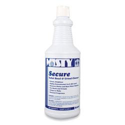 Misty Secure Hydrochloric Acid Bowl Cleaner, Mint Scent, 32oz Bottle, 12/Carton