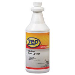 Zep Commercial® Alkaline Drain Opener Quart Bottle, 12/Carton
