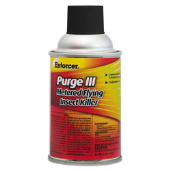 Enforcer Purge III Metered Flying Insect Killer, 6.4 oz Aerosol, Fresh Scent, 12/Carton