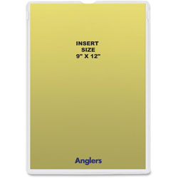 Anglers Company Envelope, Heavy Poly, 9 in x 12 in, 50/PK, Clear