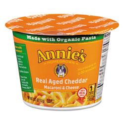 Annie's Homegrown Aged Cheddar Mac and Cheese, 2.01 oz Cup, 12/Carton