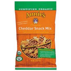 Annie's Homegrown Organic Cheddar Snack Mix, 2.5 oz Bag, 12/Carton