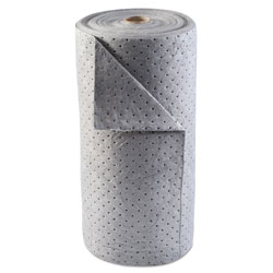 Anchor Universal Sorbent-Pad Roll, 30w x 120ft, Gray