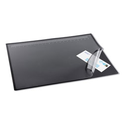 Artistic Office Products Lift-Top Pad Desktop Organizer with Clear Overlay, 24 x 19, Black