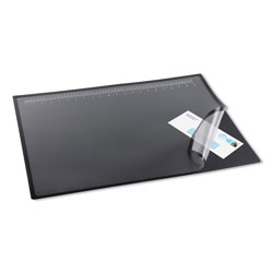 Artistic Office Products Lift-Top Pad Desktop Organizer with Clear Overlay, 22 x 17, Black