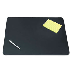Artistic Office Products Sagamore Desk Pad w/Decorative Stitching, 24 x 19, Black