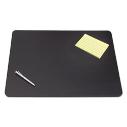Artistic Office Products Sagamore Desk Pad w/Decorative Stitching, 38 x 24, Black