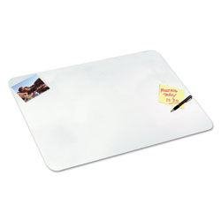 Artistic Office Products Eco-Clear Desk Pad with Antimicrobial Protection, 19 x 24, Clear Polyurethane