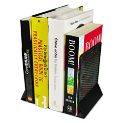 Artistic Office Products Urban Collection Punched Metal Bookends, 6 1/2 x 6 1/2 x 5 1/2, Black