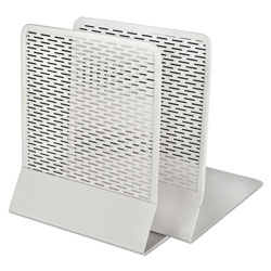 Artistic Office Products Urban Collection Punched Metal Bookends, 6 1/2 x 6 1/2 x 5 1/2, White
