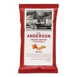Anderson Peanut Butter Filled Pretzel Nuggets, Original, 2.5 oz Packets, 8/Carton