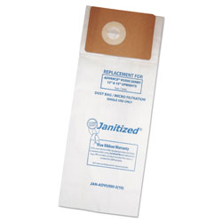 Janitized Vacuum Filter Bags Designed to Fit Advance VU500/Triple S Triumph, 100/Carton