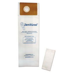 Janitized Vacuum Filter Bags Designed to Fit Advance Spectrum CarpetMaster, 100/Carton
