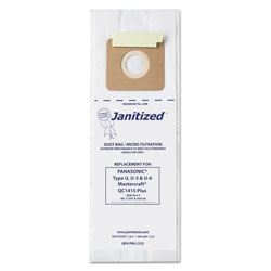 Janitized Vacuum Filter Bags Designed to Fit Panasonic Upright Type U, 36/CT
