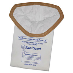 Janitized Vacuum Filter Bags Designed to Fit ProTeam Super Coach Pro 6/GoFree Pro, 100/CT